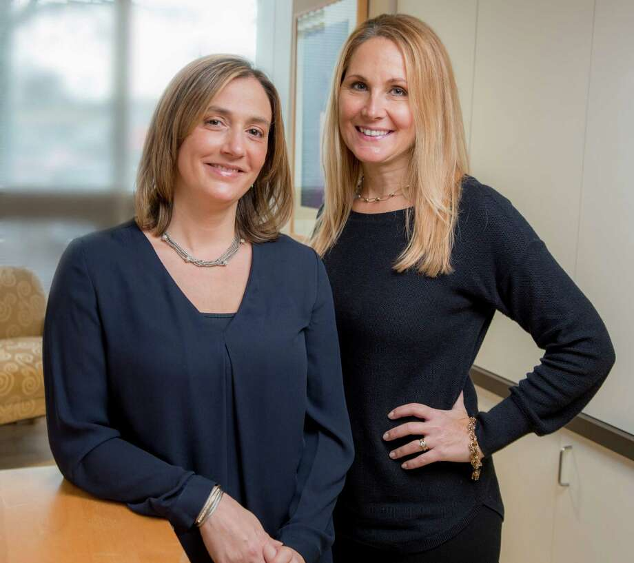 Allison Gagliardi, right, has acquired Stamford-based Troy Insurance from founder Paul Troy. Gagliardi is pictured with Kara Condlin, vice president. Photo: William Taufic