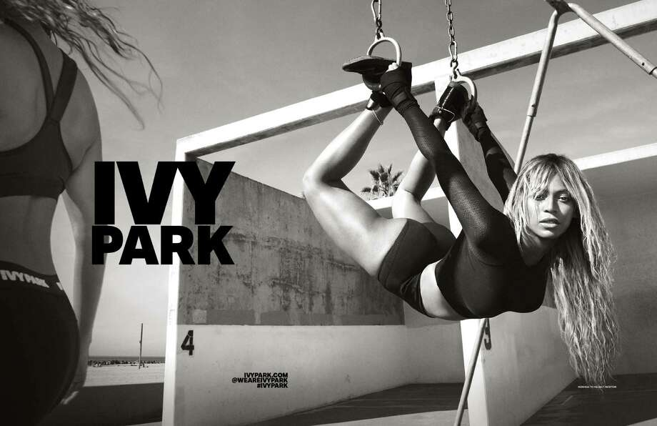 Ivy Park is Beyonce's new athleisure/fitness collection available at Nordstrom, Net-a-Porter and TopShop. Her video for the collection features Parkwood park, a Houston area park where the super star ran with her dad, Mathew Knowles, a child. Photo: Ivy Park