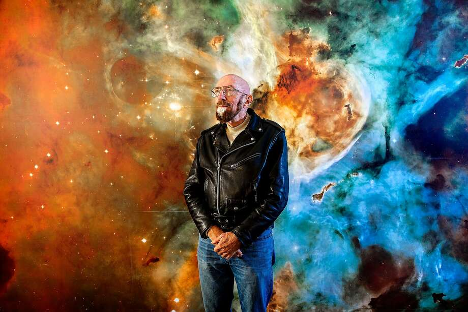 "PASADENA - CA - NOVEMBER 11, 2014 - Astrophysicist Kip Thorne photograph in front of a stellar mural at California Institute of Technology, November 11, 2014, in the Cahill Center for Astronomy and Astrophysics where Thorne has his office.  Thorne, whose research into black holes and worm holes helped form the basis for the sci-fi movie ""Interstellar.""  (Photo by Ricardo DeAratanha/Los Angeles Times via Getty Images) Photo: Ricardo DeAratanha, Getty Images"