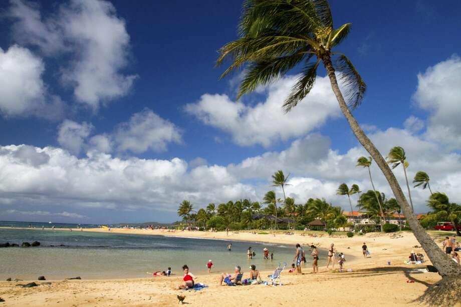 Poipu Beach Park on southern coast of Kauai island, Hawaii, USA Photo: Getty Images/Gallo Images