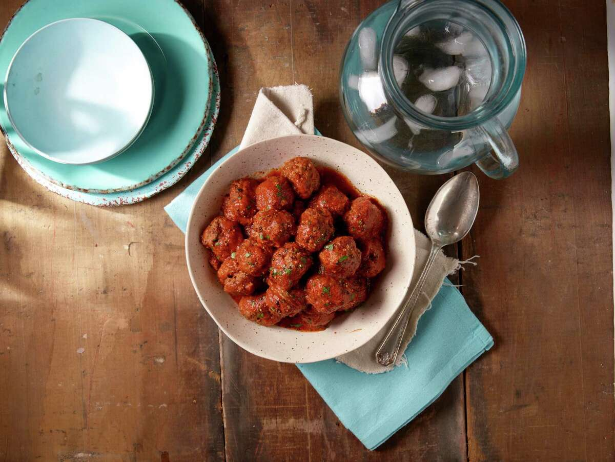 Kroger stores will be celebrating the flavors of Spain during a two-week event called Savor World Flavor: Taste of Spain. The promotion (running through April 19) will bring authentic Spanish foods to the supermarket as well recipes and in-store sampling to highlight the joys of Spanish cuisine. Shown: Albondigas in tomato sauce.