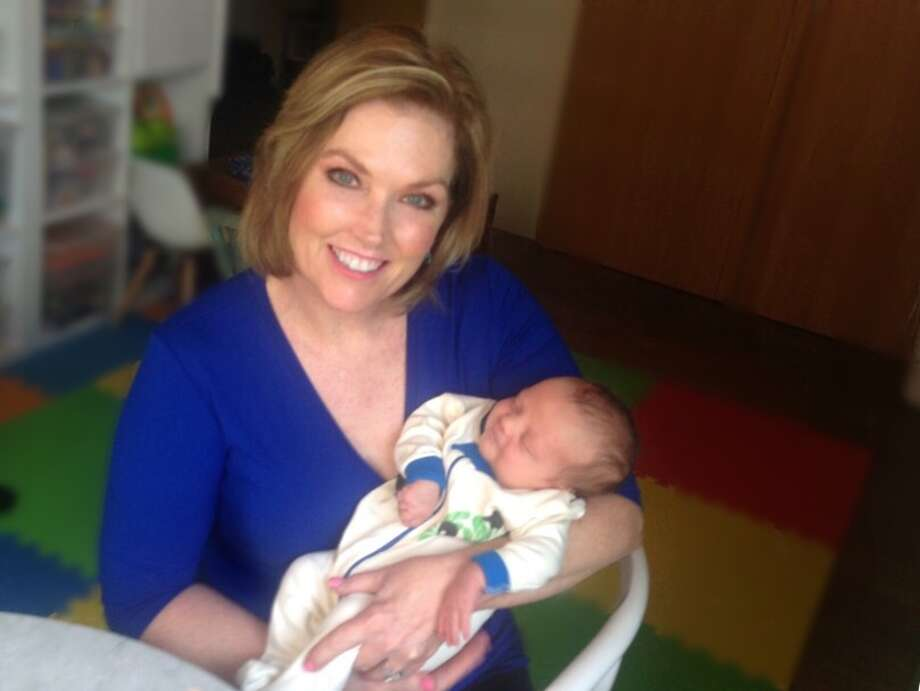 Stop fretting, viewers! Deborah Knapp will return to KENS-TV on April 25 after a long visit with her daughter and new grandson, Nash. Photo: Courtesy