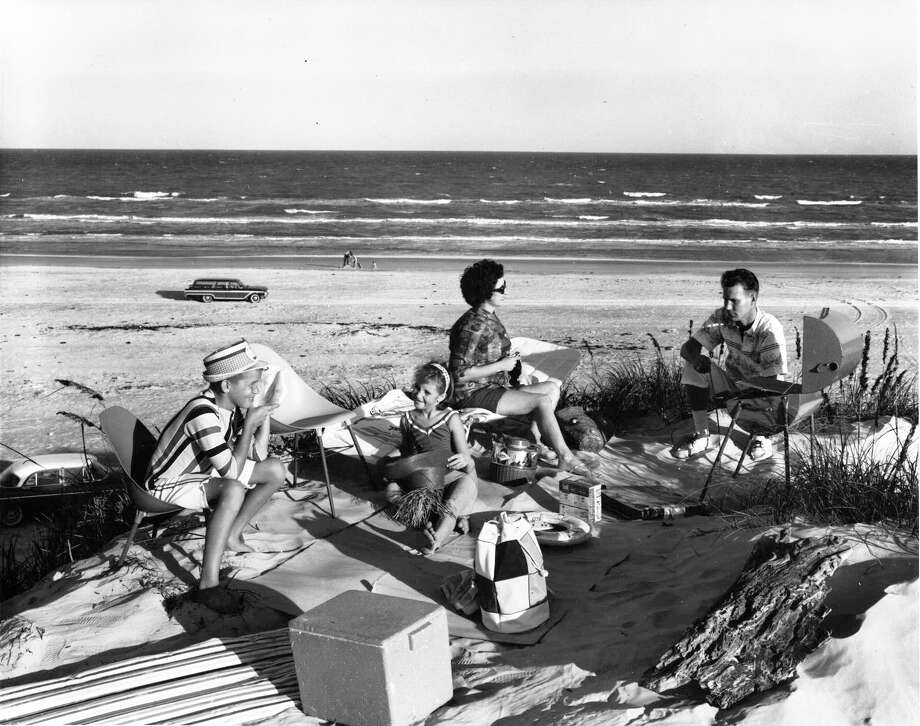 1. The Padre Island National Seashore was dedicated on April 8, 1968, by then-President Lyndon B. Johnson. Around 10,000 people gathered for the event.The photo above was used as an advertisement by the Texas Highway Department. Photo: Express-News Archives