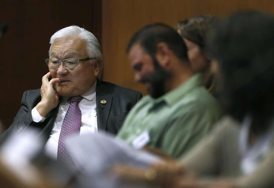 Rep. Mike Honda hosts a roundtable discussion on ending sexual discrimination against transgender students in San Jose, Calif. on Thursday, April 7, 2016. Challenger Ro Khanna is hoping to unseat the incumbent Honda from California's 17th Congressional District. Photo: Paul Chinn, The Chronicle