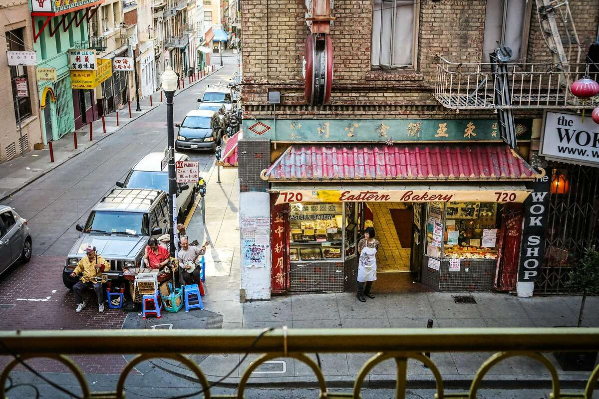 A view of Chinatown from Mister Jiu's restaurant, in San Francisco, California, on Wednesday, April 6, 2016.