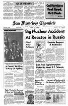 Historic Chronicle Front Page April 29, 1986 Accident at Chernobyl Nuclear Power Plant in Russia  Chron365, Chroncover
