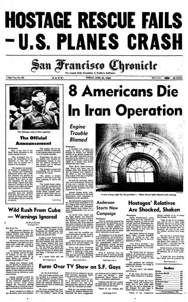 Chronicle Covers The Deadly Peak Of Iran Hostage Crisis