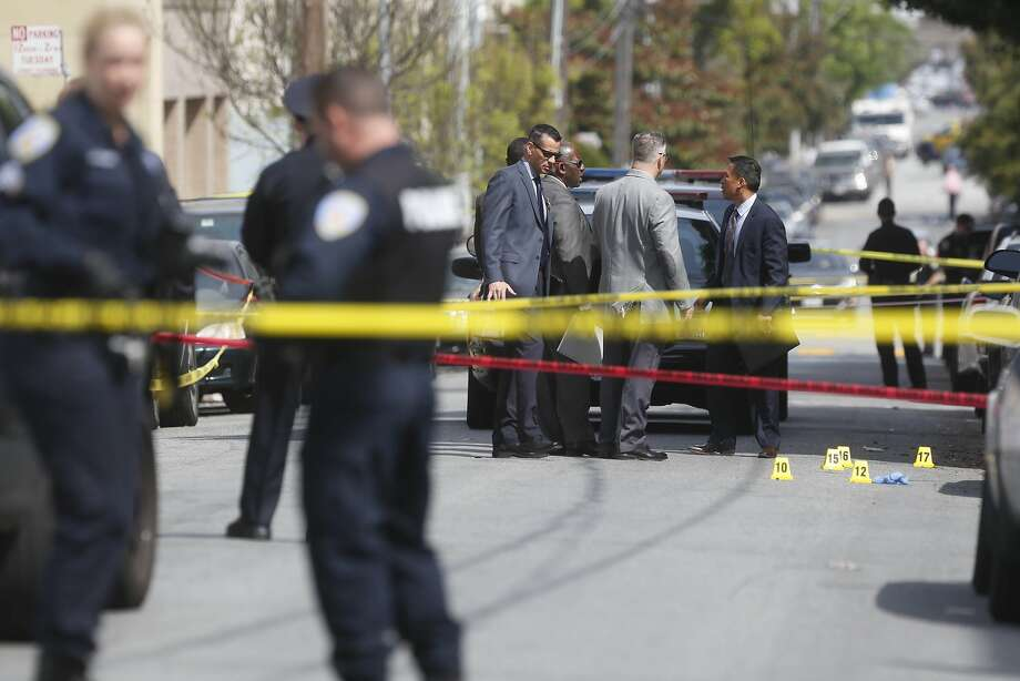 The fatal police shooting of Luis Gongora is investigated on Shotwell Street between 18th and 19th Streets on Thursday, April 7, 2016 in San Francisco, California. Photo: Lea Suzuki, The Chronicle