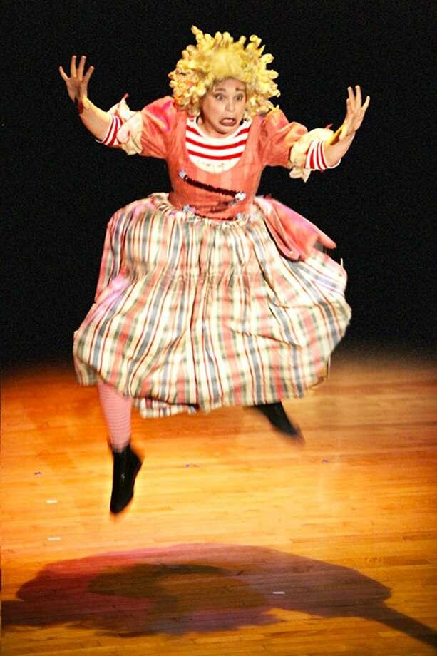 "Sara Moore clowns in ""Circus Circus Cabaret: Take Me Away"" at San Francisco's Circus Center. Photo: Courtesy Circus Center"