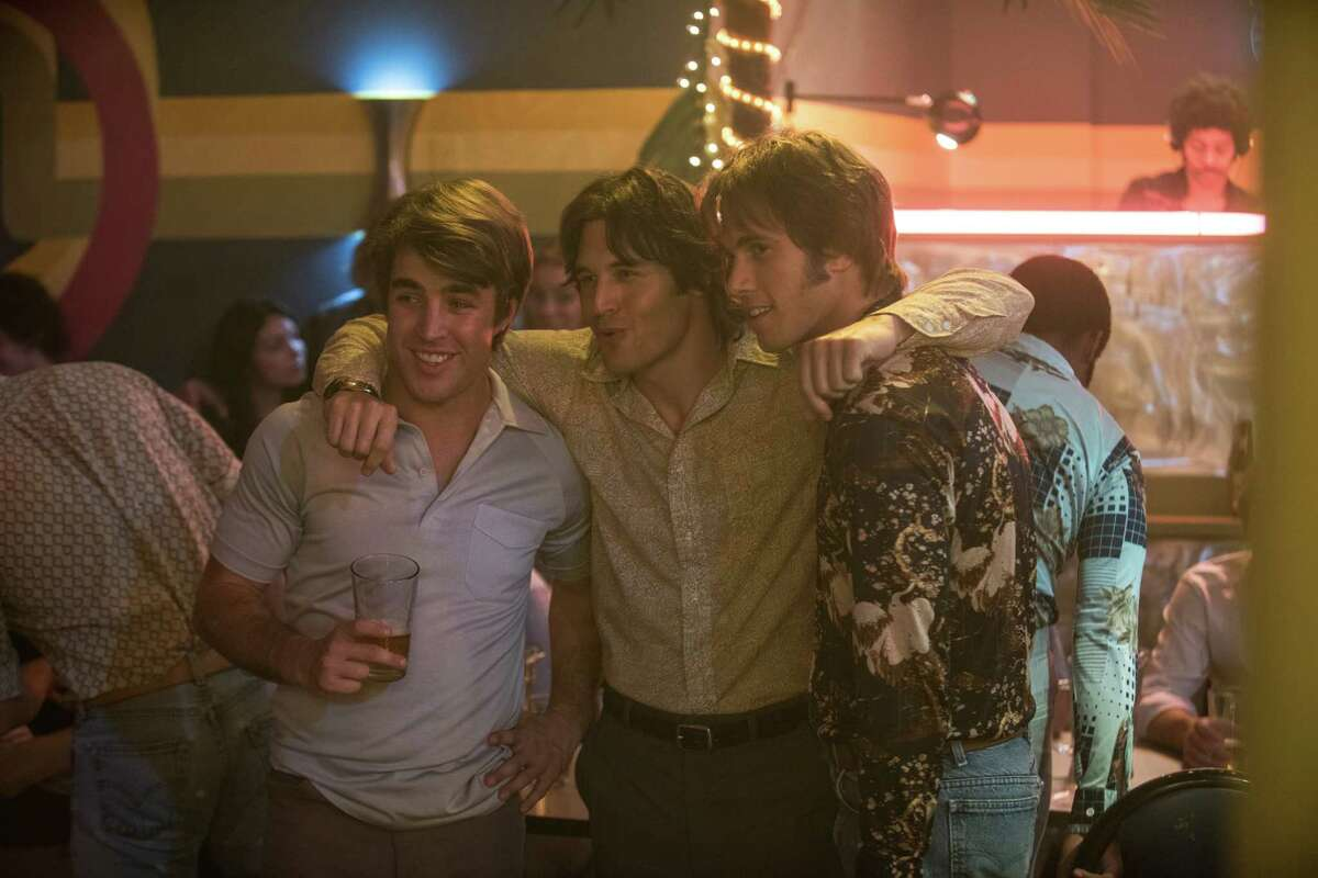 """Temple Baker, from left, Ryan Guzman and Blake Jenner star in """"Everybody Wants Some!!"""""""