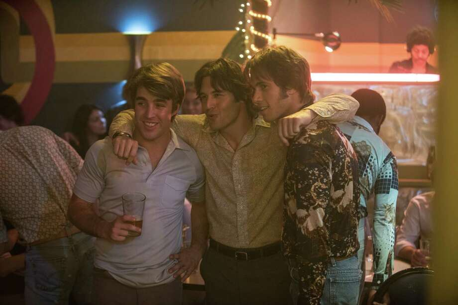 """Temple Baker, from left, Ryan Guzman and Blake Jenner star in """"Everybody Wants Some!!"""" Photo: Van Redin, HONS / Paramount Pictures"""