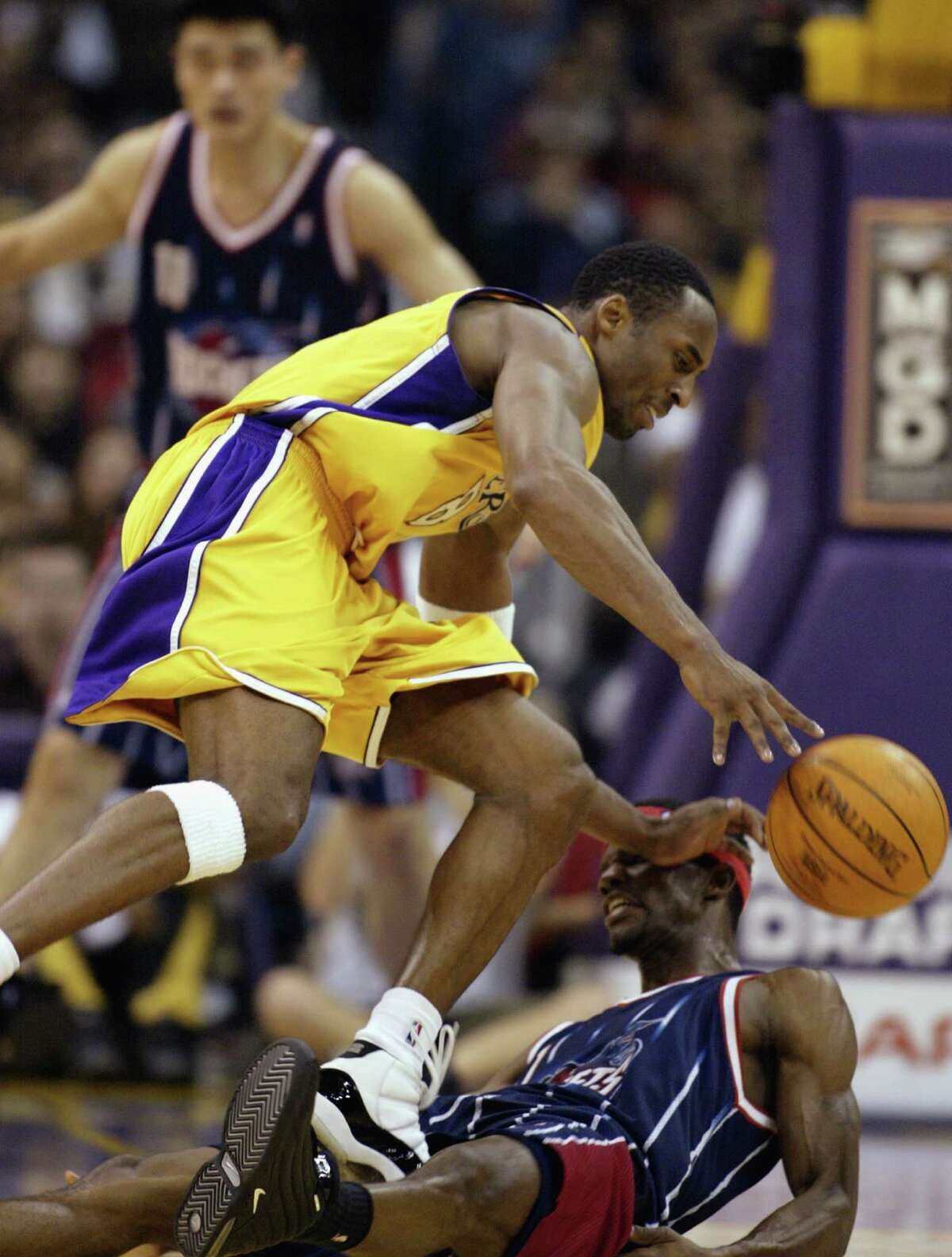 Nov. 17, 2002: Rockets 93, Lakers 89 With Shaquille O'Neal gone, Bryant had to try to do it all, and he nearly did in this losing effort. The Rockets got 27 points and nine rebounds from Steve Francis, but Bryant countered with 46 points, six rebounds and four assists.