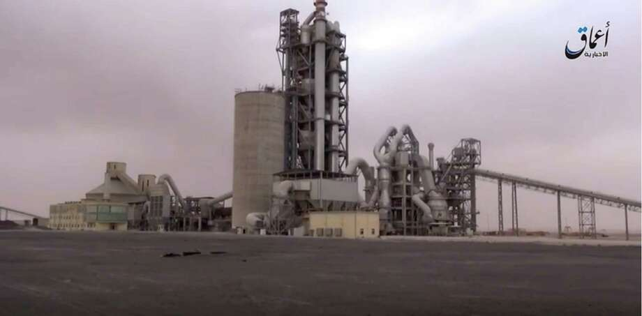 Islamic State militants abducted more than 300 workers and contractors from this cement factory near the town of al-Dumeir, northeast of Damascus, Syrian television reported.   Photo: HONS / militant video
