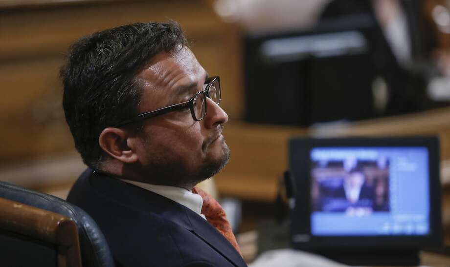Supervisor David Campos, shown here listening to comments on proposals to limit short-term rentals in a July 2015 hearing, has commissioned a new study of Airbnb hosts' compliance with city regulations. Photo: Michael Macor, The Chronicle