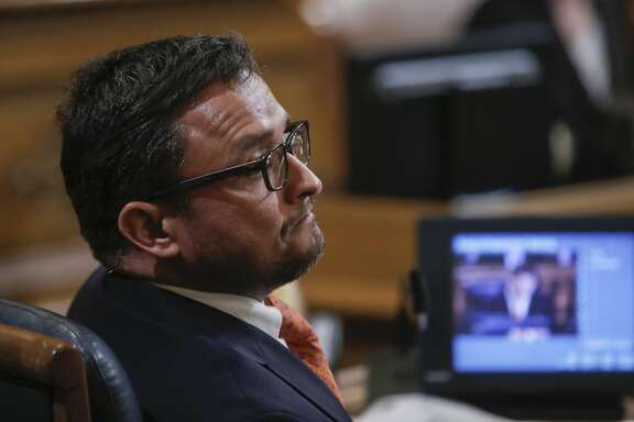 Supervisor David Campos listens to comments on the ordinance proposals in regards to short-term residential rentals, as the San Francisco Board of Supervisors prepared to vote on competing measures to regulate Airbnb and other short-term rental services in San Francisco, Calif., on Tues. July 14, 2015.