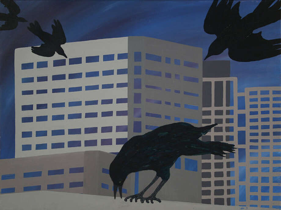 """Grackles over Houston"": A print by Cary Reeder, available on Etsy. Photo: Cary Reeder"