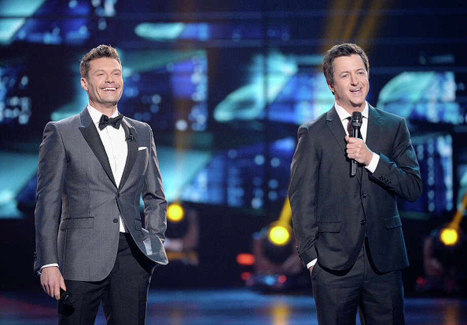 "Host Ryan Seacrest and Brian Dunkleman reunite at the final ""American Idol"" in Hollywood on Thursday. Keep clicking to see other former ""Idol"" stars."
