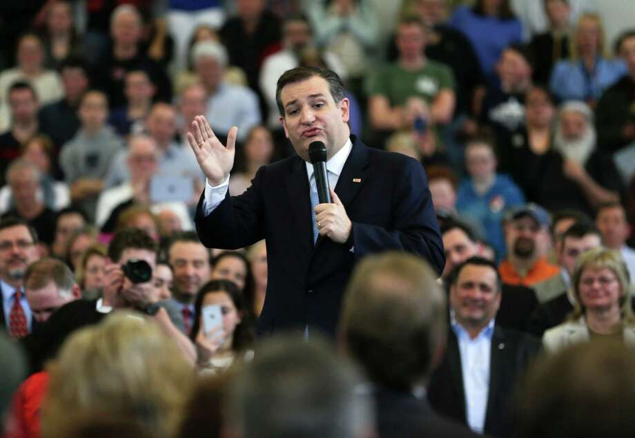 A recent poll of New York voters shows Republican presidential hopeful Ted Cruz in third place, with 17 percent. The poll shows Donald Trump leading in his home state with 52 percent and Ohio Gov. John Kasich is a distant second at 25 percent. Photo: Mike Groll /Associated Press / AP