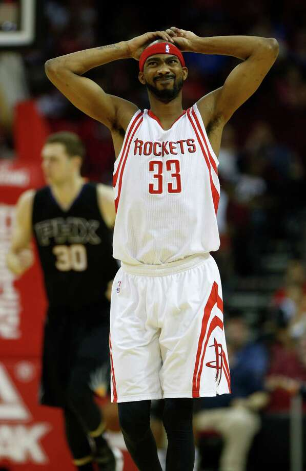 Houston Rockets guard Corey Brewer (33) reacts during the second half of an NBA basketball game at Toyota Center, Thursday, April 7, 2016, in Houston.  Rockets lost to Phoenix 124-115. Photo: Karen Warren, Houston Chronicle / © 2016  Houston Chronicle