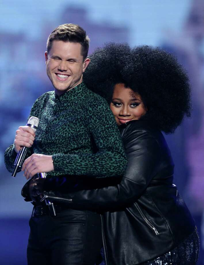 "Trent Harmon and La'Porsha Renae, the final ""Idol"" finalists. Photo: Matt Sayles, INVL / Invision"