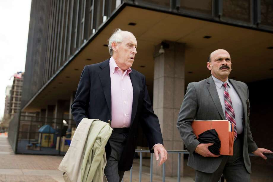 Charles Hallinan, left, and his attorney leave a federal building in Philadelphia on Thursday.  Photo: Matt Rourke, STF / AP