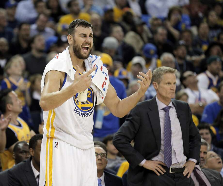 Warriors center Andrew Bogut often gets on the nerves of opposing teams and fans with his hard fouls and sharp elbows. Photo: Carlos Avila Gonzalez, The Chronicle