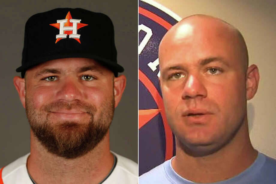 A look at Evan Gattis with his trademark facial hair and without, which is the look he sported during his rehab assignment with Class AA Corpus Christi on Thursday. (Photos by Karen Warren, Houston Chronicle and Ian Steele, KIII-TV)Click through the gallery to see other Houston celebrities who sport beards.