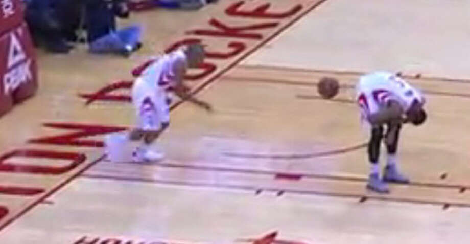 Rockets guard Andrew Goudelock resorted to inbounding the ball off teammate Josh Smith's rear end during Thursday's loss to Phoenix.