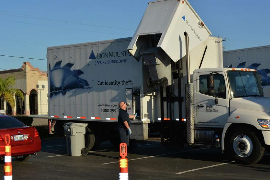Comerica Bank and Iron Mountain, a storage and information management services company, will host the fourth annual Shred Day Houston on Saturday. This picture, provided by Comerica, is of last year's Shred Day Houston.