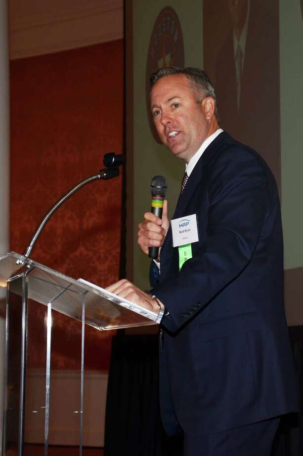Reid Ryan spoke at the Houston Relocation Professionals' spring educational event. Photo: Michelle Sandlin