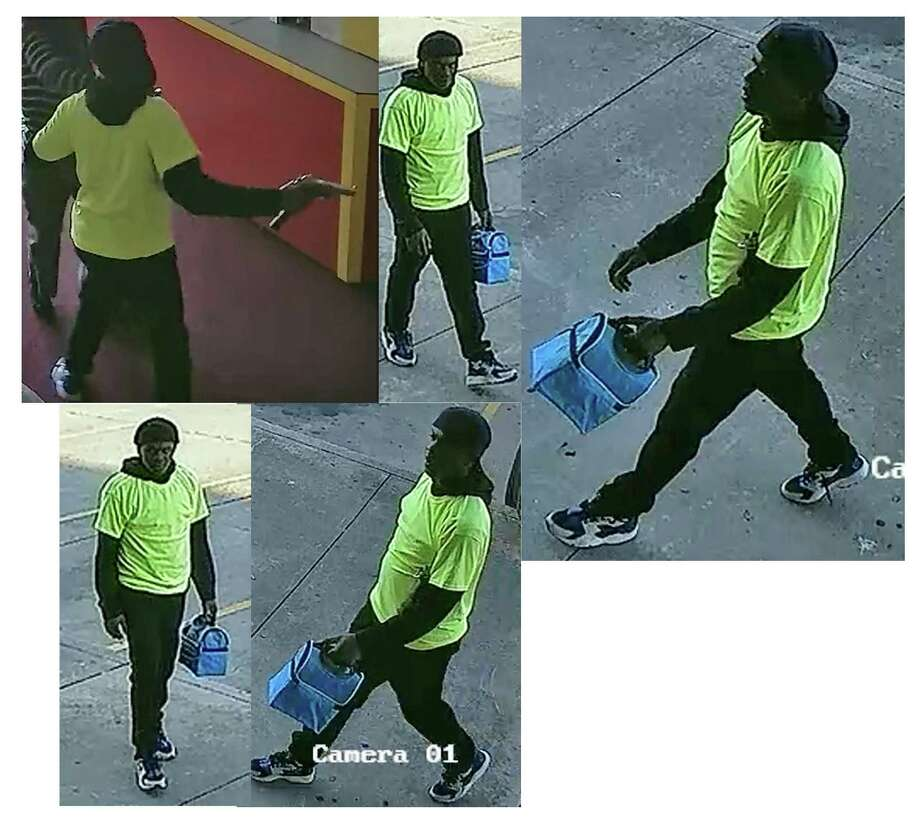 Surveillance photo of a suspect in a robbery about 8:30 a.m. on March 21 at The Postal Center at 12600 Bissonnet. Photo: Houston Police Department