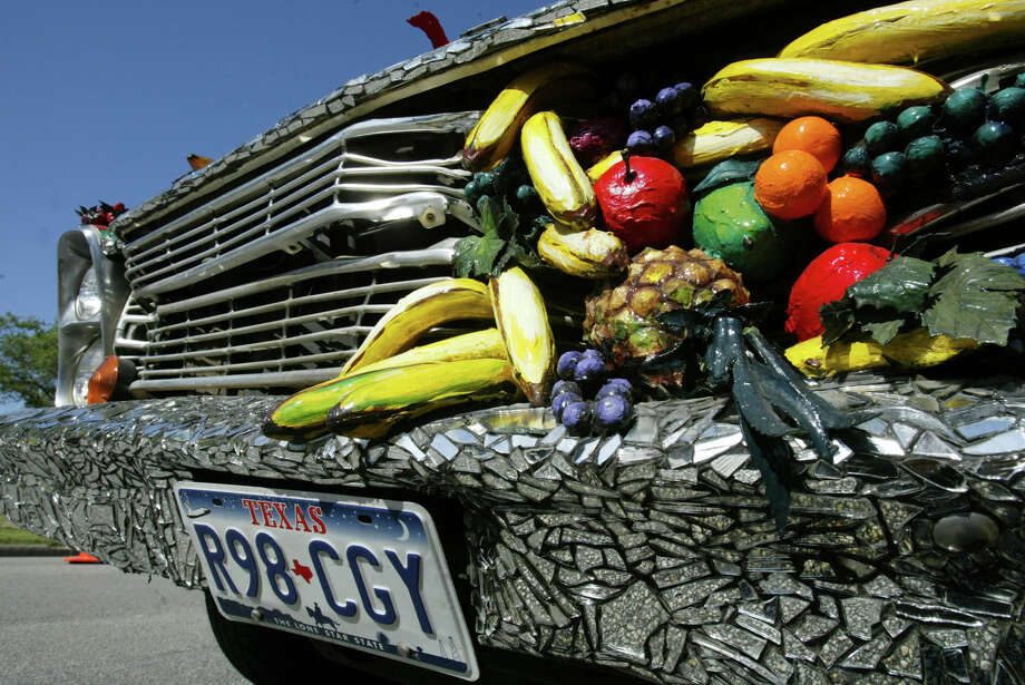 The Fruitmobile is a fan favorite at the Art Car Parade. Photo: Jessica Kourkounis, Freelance / Freelance