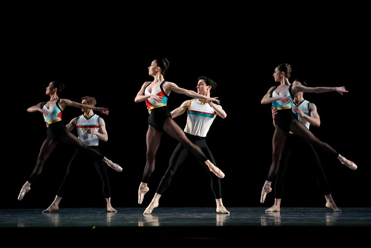 """San Francisco Ballet in Justin Peck's world premier """"In The Countenance Of Kings"""" at the War Memorial Opera House on April 8, 2016 ."""