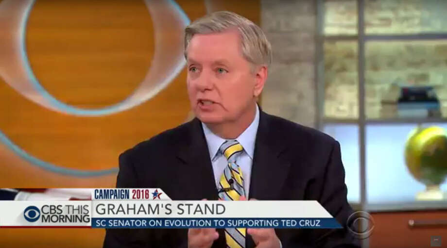 S.C. Sen. Lindsey Graham said Friday on CBS that if he could lend is support to Texas Sen. Ted Cruz, who he has publicly admonished, then his Republican colleagues could too. Image: screenshot from CBS