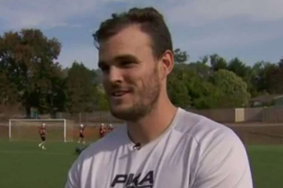 Australian rules football kicker Dane Roy, 27, has been offered a football scholarship by UH, according to a report out of Melbourne. (Photo courtesy 9 News Melbourne)