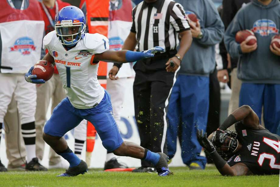 Shane Williams-Rhodes finished with 233 career receptions at Boise State and had 63 catches last season for 524 yards.  Photo: Sean M. Haffey, Getty Images / 2015 Getty Images