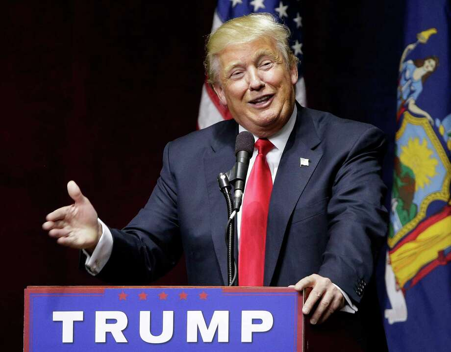 Republican presidential candidate Donald Trump speaks during a campaign rally, Wednesday, April 6, 2016, in Bethpage, N.Y. Photo: AP Photo /Julie Jacobson / AP