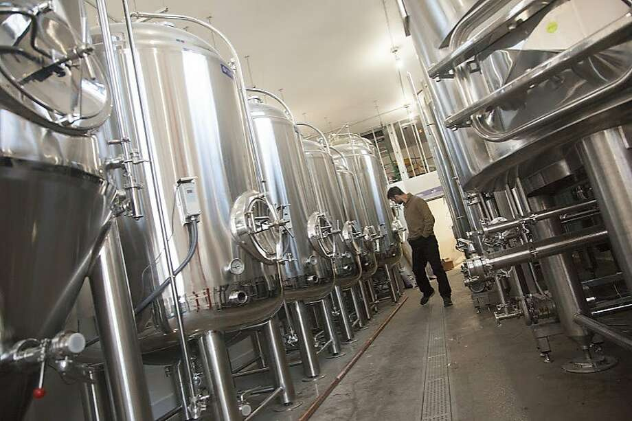 Temescal Brewing in Oakland. The brewery was partially funded by a successful Kickstarter crowdfunding campaign. Photo: Courtesy Temescal Brewing/HO