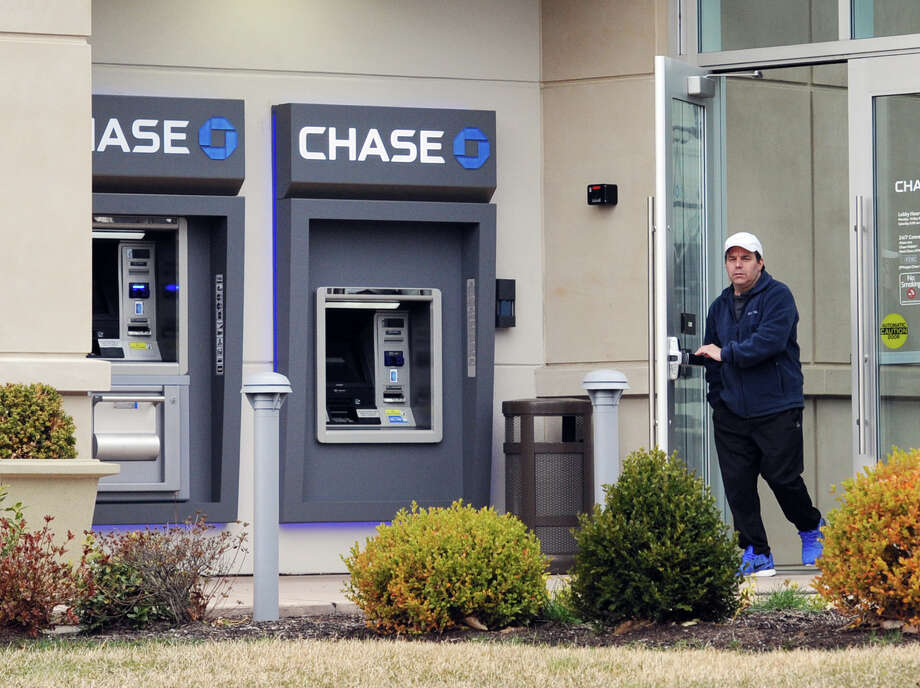 The Chase Bank ATM machines at 111 West Putnam Ave., Greenwich, Conn., Friday, April 8, 2016. According to Greenwich police, an ATM service technician loading the ATM machine was robbed at gunpoint shortly after midnight on Wednesday night. Photo: Bob Luckey Jr. / Hearst Connecticut Media / Greenwich Time
