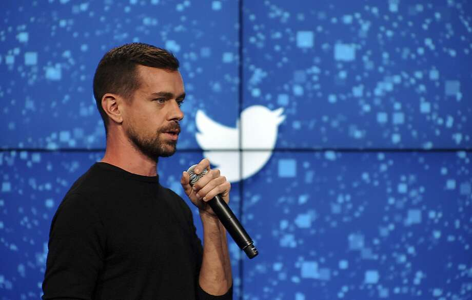 Jack Dorsey, Twitter's CEO, speaks at a promotional event in New York on Oct. 8, 2015. (Bryan Thomas/The New York Times) Photo: BRYAN THOMAS, New York Times