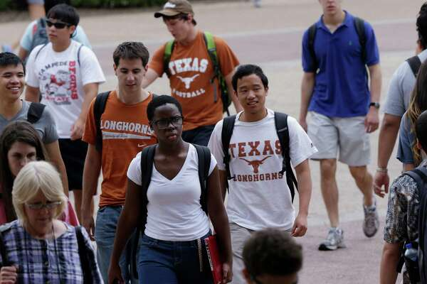 As this 2012 photo demonstrates, students at the University of Texas at Austin have become more ethnically and racially diverse. The state's 10 percent rule — and an alternate admission process — have helped make that happen.