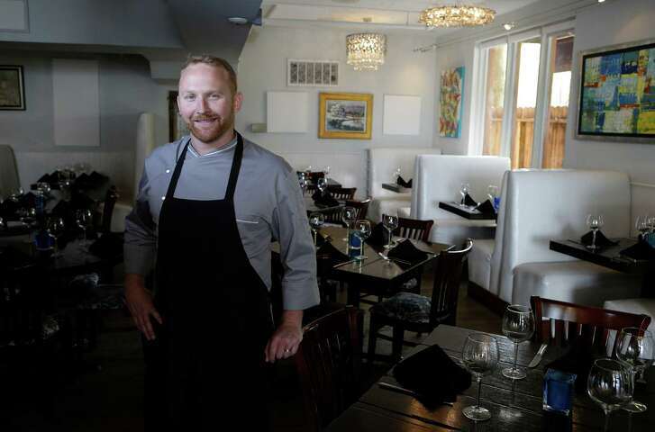 Chef Eric Aldis is the new chef at Corner Table potential TV show and a barbecue restaurant opening soon. Below, from top, Fish of the Day; Texas Bob White quail; and the shellfish trio with shrimp, scallops and lobster.