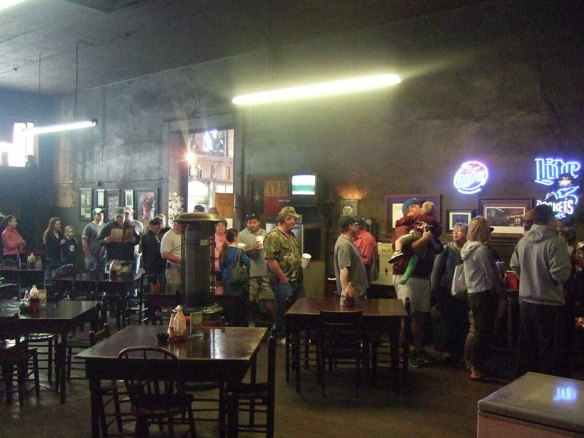 The line at Louie Mueller Barbecue in Taylor is fairly constant.