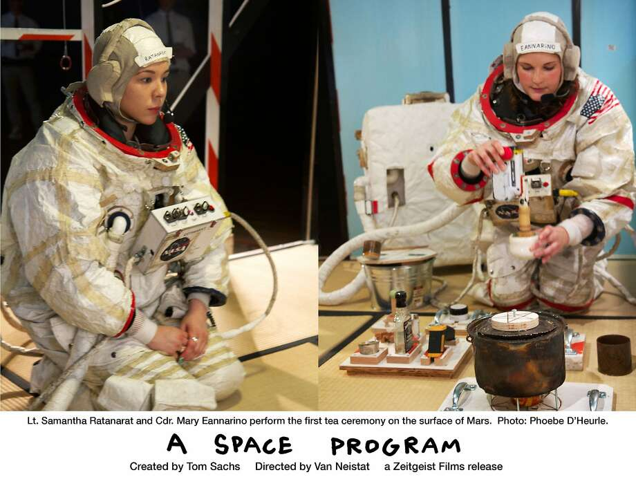 "With its low-tech depiction of a journey to Mars by astronauts Lt. Samantha Ratanarat and Cdr. Mary Eannarino, ""A Space Program"" is a celebration of off-the wall ingenuity. Photo: Zeitgeist Films"