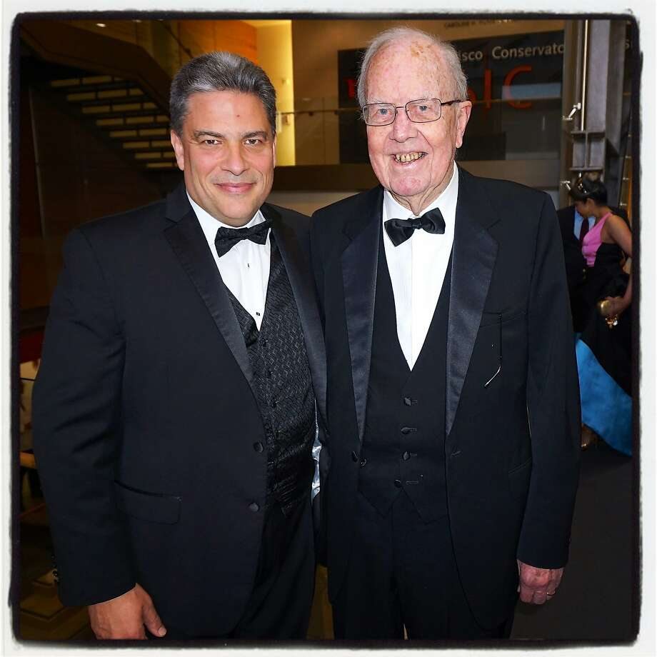 S.F. Conservatory of Music President David Stull (left) with Giving Gala honoree philanthropist William Bowes. Photo: Catherine Bigelow, Special To The Chronicle