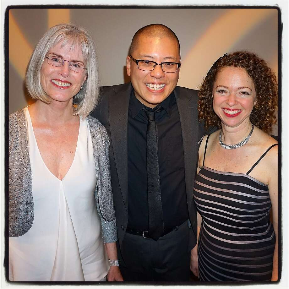 Cal Shakes Board President Jean Simpson (left), new artistic director Eric Ting and managing director Susie Falk at the theater's gala at City View at Metreon. Photo: Catherine Bigelow, Special To The Chronicle