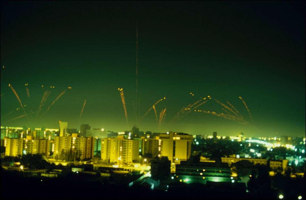 Jan. 17, 1991: The first raid In Baghdad.