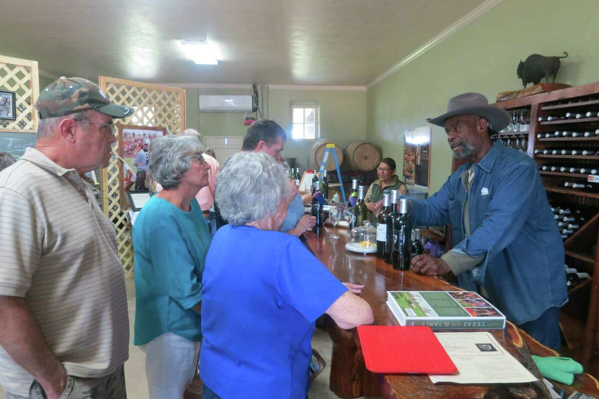 The Dotson-Cervantes Winery is in a little ghost town called Pontotoc; their home and vineyard is in Voca, a few miles northwest on state Highway 71.