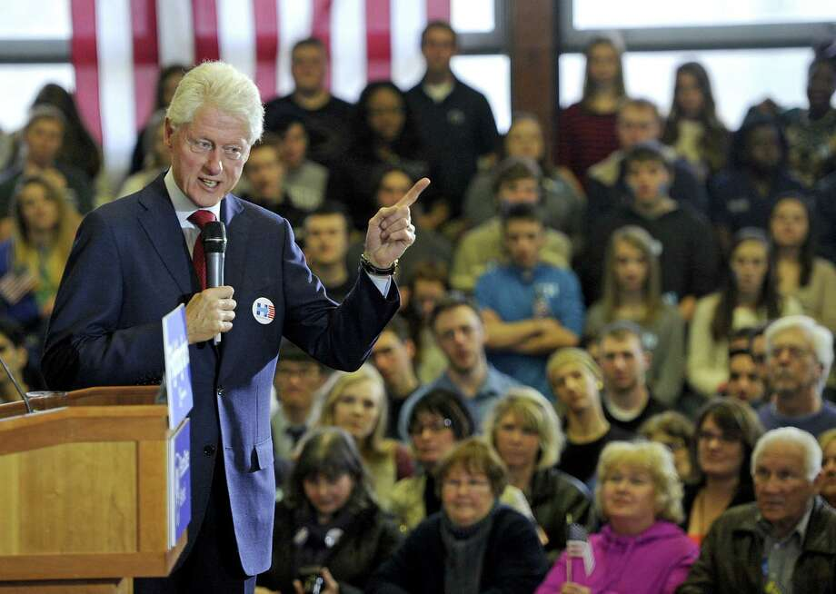Former President Bill Clinton on Friday walked back his aggressive reaction the day before to Black Lives Matter protesters who questioned his administration's policies on race. Photo: Christopher Millette, MBI / Erie Times-News