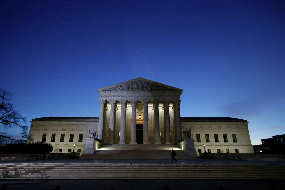 The front of the U.S. Supreme Court is seen early Friday, Feb. 19, 2016 in Washington.   (AP Photo/Alex Brandon) Photo: Alex Brandon, STF / AP